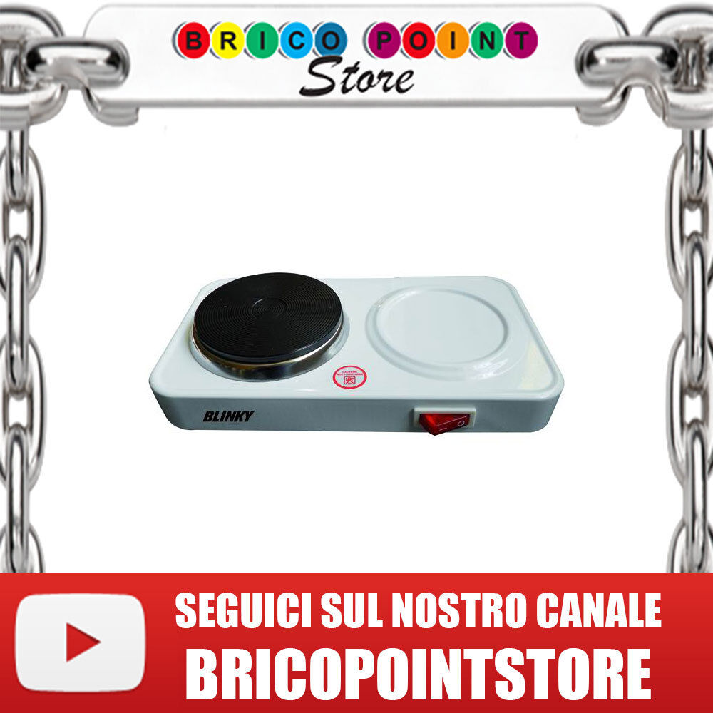 FORNELLO ELETTRICO DA CAMPEGGIO BLINKY BK-FO/8 WATT 450 PIASTRA DIAM. 80 MM