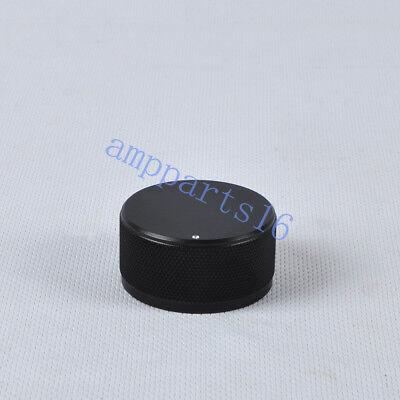 1pc 44x22mm Black Aluminum Vintage Control Knurled Knob Fr Guitar Amplifier Part