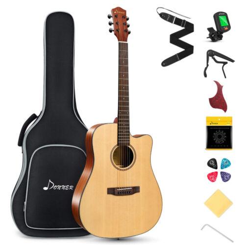 41 Inch Natural 20 Frets 6 Strings Right Beginner Mahogany Acoustic Guitar Kit