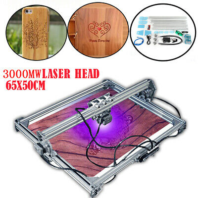 65x50cm Cnc 3000mw Laser Engraving Machine 2 Axis Diy Kit Desktop Engraver 12v