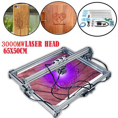 3000mw Cnc Mini Laser Engraving Machine 2 Axis Diy Engraver Desktop Max 65x50cm