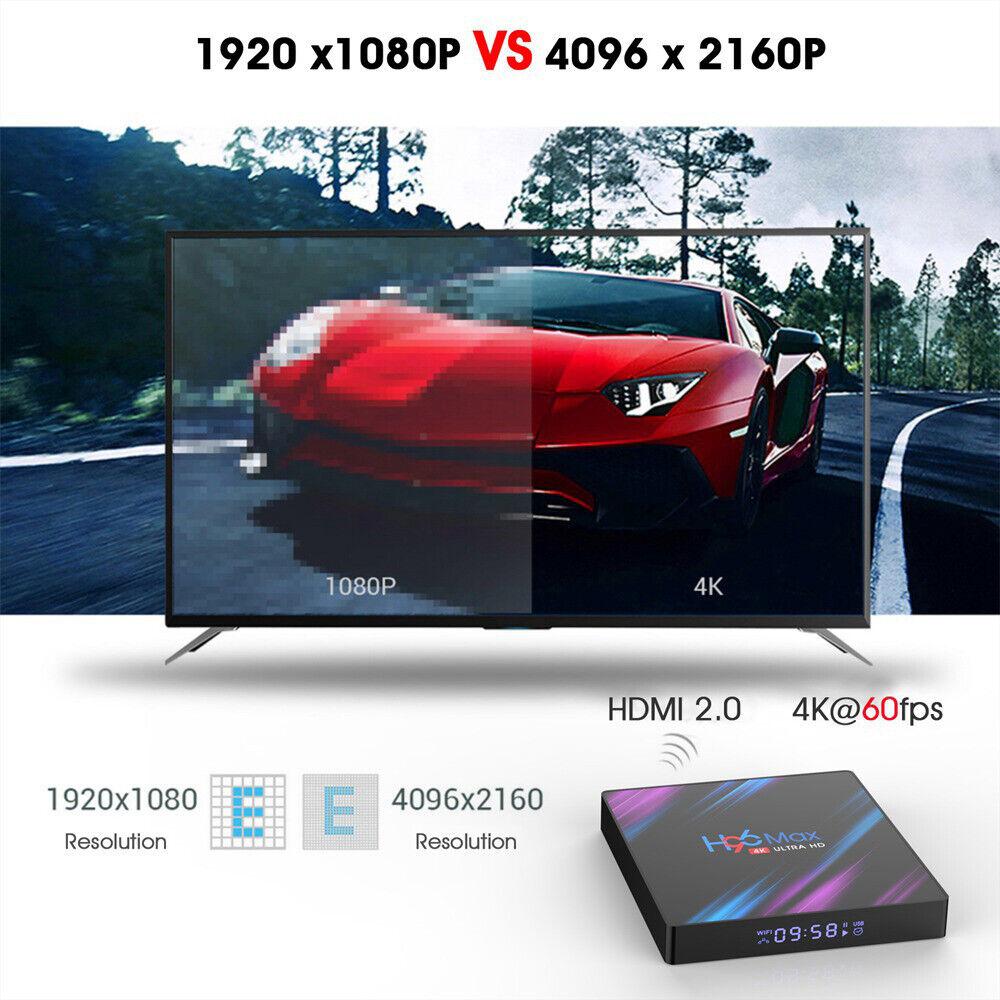 H96 Max 4K Ultra HD 64Bit Wifi Android 9.0 Quad Core Smart TV Box Media Player 6