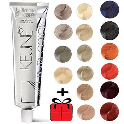 - KEUNE Tinta Hair Color Colour Dye  BLONDE & MIX COLORS 60ml Tube + GIFT