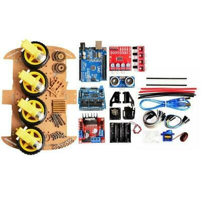 Robot Car Chassis Ultrasonic Smart Car Kits Fits For Arduino L298n Driver Module