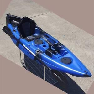 2.95M Single Sit-on Kayak Fishing Boat Canoe 5 Rod Holders Padded Keysborough Greater Dandenong Preview