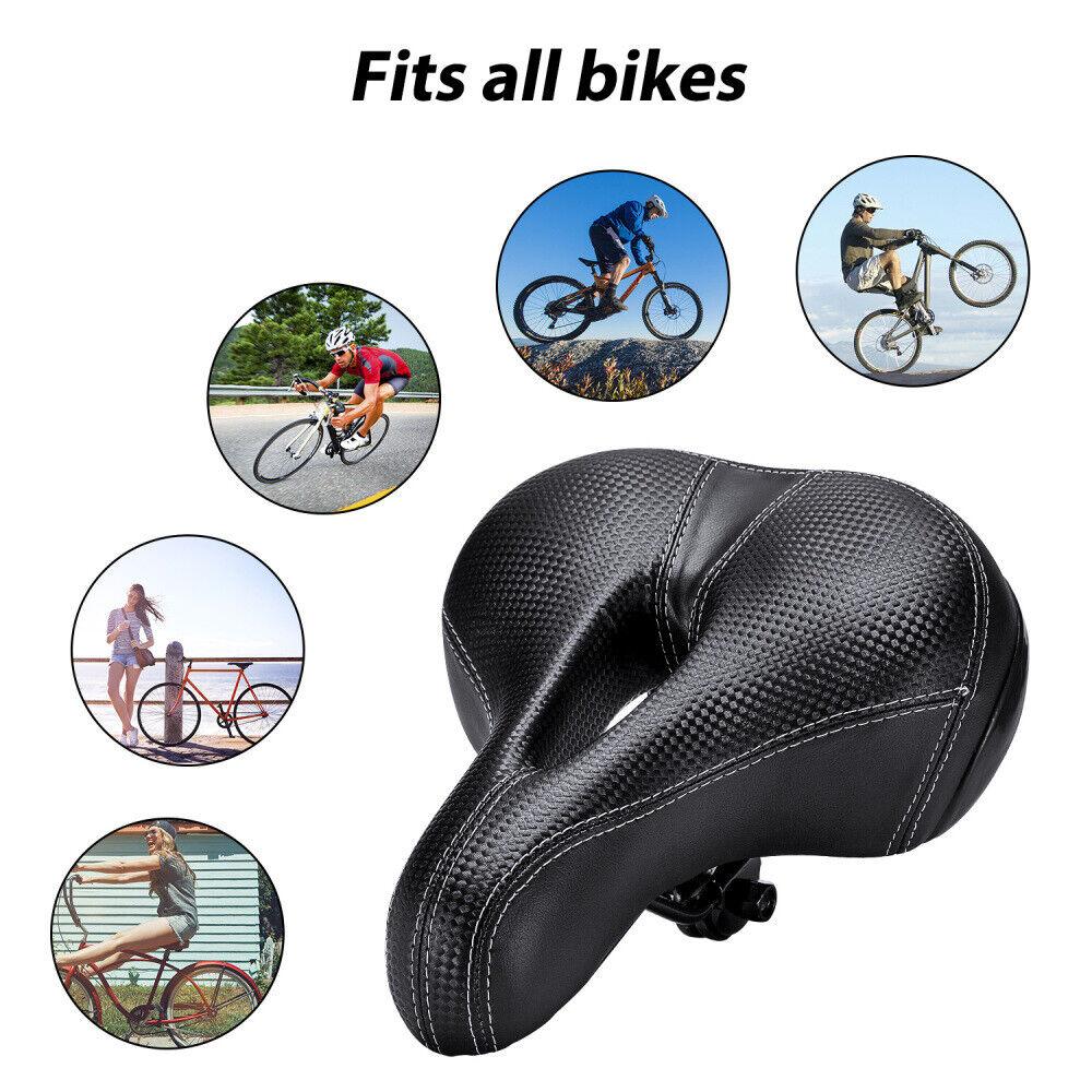 Comfort Wide Big Bum Bike Bicycle Saddle Seat Gel Cruiser Sp