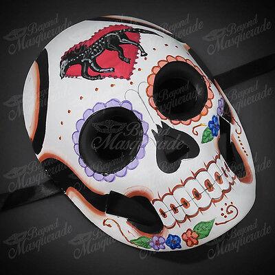 Womens Day of the Dead Skull Skeleton Halloween Masquerade Mask Horse Skeleton
