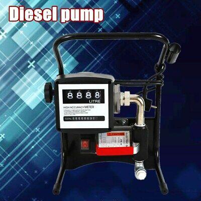 Fuel Transfer Pump 375 Watt Diesel Gas Gasoline Kerosene W Manual Nozzle Kit