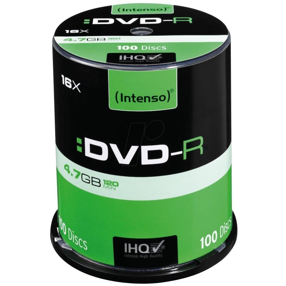 Intenso DVD-R 4,7GB 16x Geschwindigkeit 100er Spindel 4101156 NEU DVD-Rohlinge