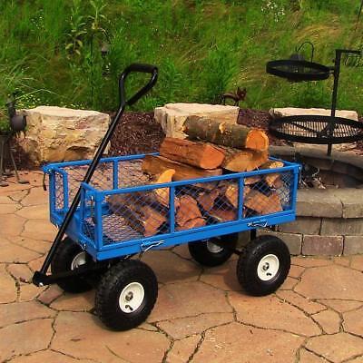 Heavy Duty Wagon All Terrain Pneumatic Tire Gardening Dolly Carrier Hauling Work