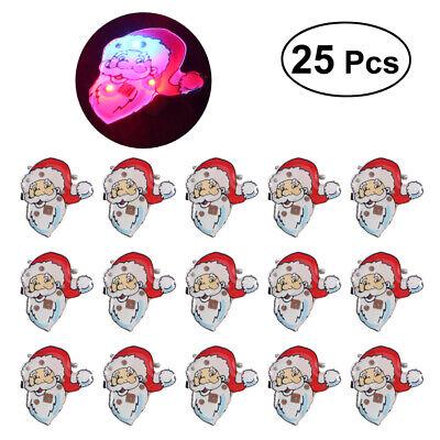 LUOEM 25Pcs Flashing Lovely Decorative Santa Claus LED Pins Brooch for Christmas - Flashing Christmas Pins