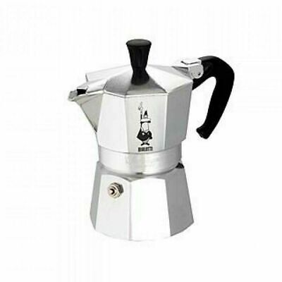 BIALETTI MOKA EXPRESS EXPRESSO MAKER 3 CUP STAINLESS STEEL -