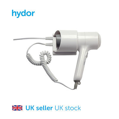 Hair Dryer - 1000W, Wall Mounted, 2 Speed Setting, Hotels, Bathrooms & Washrooms