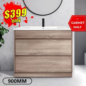 Bathroom Vanity 900mm Timber Look Oak Drawer Cabinet KINGSLEY *NEW*