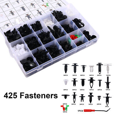 425X Car Body Retainer Assortment Fender Clips Plastic Fasteners Removal Tool YD