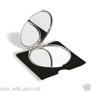 LADIES-HANDBAG-COSMETIC-METAL-MIRROR-COMPACT-FOLDING-PURSE-VANITY-POCKET