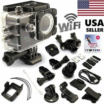 Wifi 12MP HD 1080P Car Bike Helmet Cam Sports DV Action Camera SJ4000 Waterproof