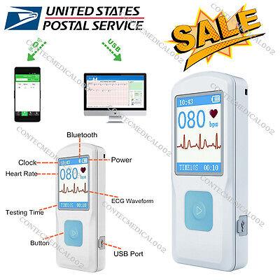 Usa Portable Ecg Ekg Monitor Bluetooth Heart Beat Monitor Usb Lcd Pm10 Ecg Fda