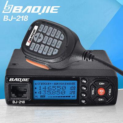 25W Output Power Mini Car Mobile Radio BJ-218 VHF/UHF 136-174/400-470MHz Radio