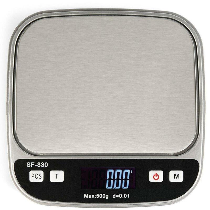 Digital Scale 0.01g/500g Jewelry Gold Silver Coin Gram Pocket Size w/2 Batteries