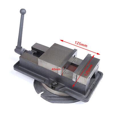 5 Inch Milling Machine Lockdown Vise 360 Swivel Base High Precision Bench