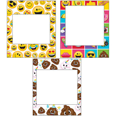 3 Emoji Character Photo Frames Props Wall Decorations Poop Birthday Party Event - Emoji Photos