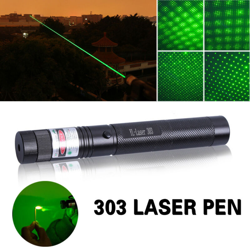 50Miles 532nm 303 Green Laser Pointer Lazer Pen Visible Beam Light+18650 Charger