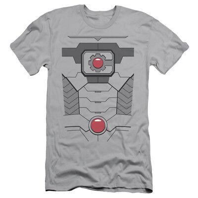 Justice League DC Comics Cyborg Costume Adult Slim T-Shirt Tee (Cyborg Costume Dc)