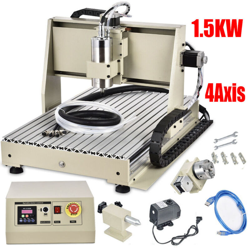1.5KW VFD USB 6040 CNC Router Engraver Machine Mill Drill Woodworking Metal Cut