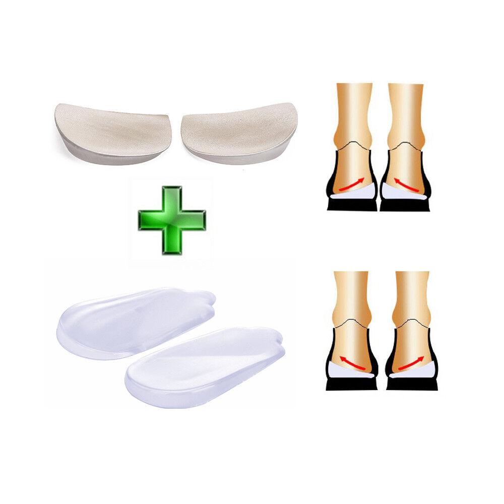 Orthopedic Insoles Heel Inserts Lift Shoe Wedge Silicone Kne