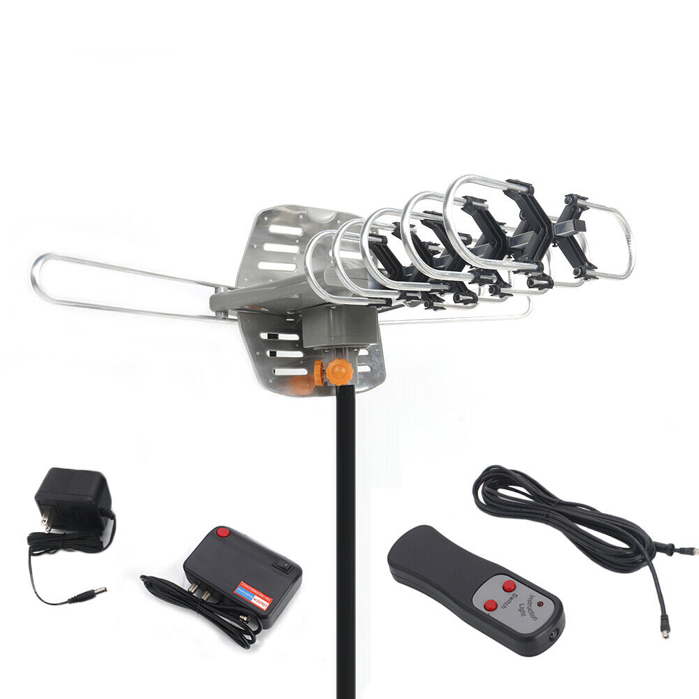 480 Mile 360°Rotation Motorized Amplified Outdoor HD TV Ant