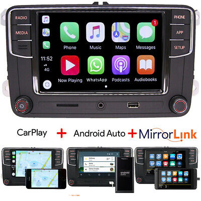 Car Stereo RCD330 Carplay,Android Auto,BT,AUX,RVC for VW GOLF PASSAT TIGUAN POLO