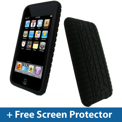 (Black Tyre Skin Case for iPod Touch 2nd 3rd Gen 2G 3G iTouch Silicone Cover)