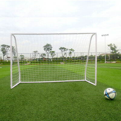 Set of 2 Sports Youth 8' x 5' Soccer Goals with Net and Pump