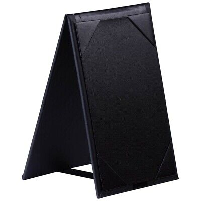 Bonded Black Leather Two View Table Tent 4 X 6 Set Of 10