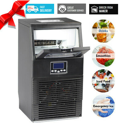 SMAD Commercial 88 lbs Ice Cubes Machine Undercounter Bar Ice Maker Restaurant