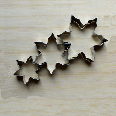 Snowflake Cookie Cutter - DIY Vegetable Snowflake Shape In Stock Mold Mould Cookie Cutter 3 PCS/Set