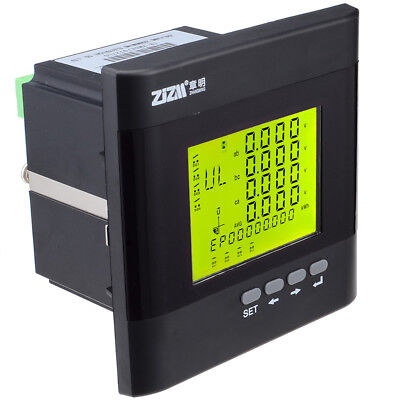 3-phase Multi-function Digital Lcd Display Energy Voltage Current Power Meter