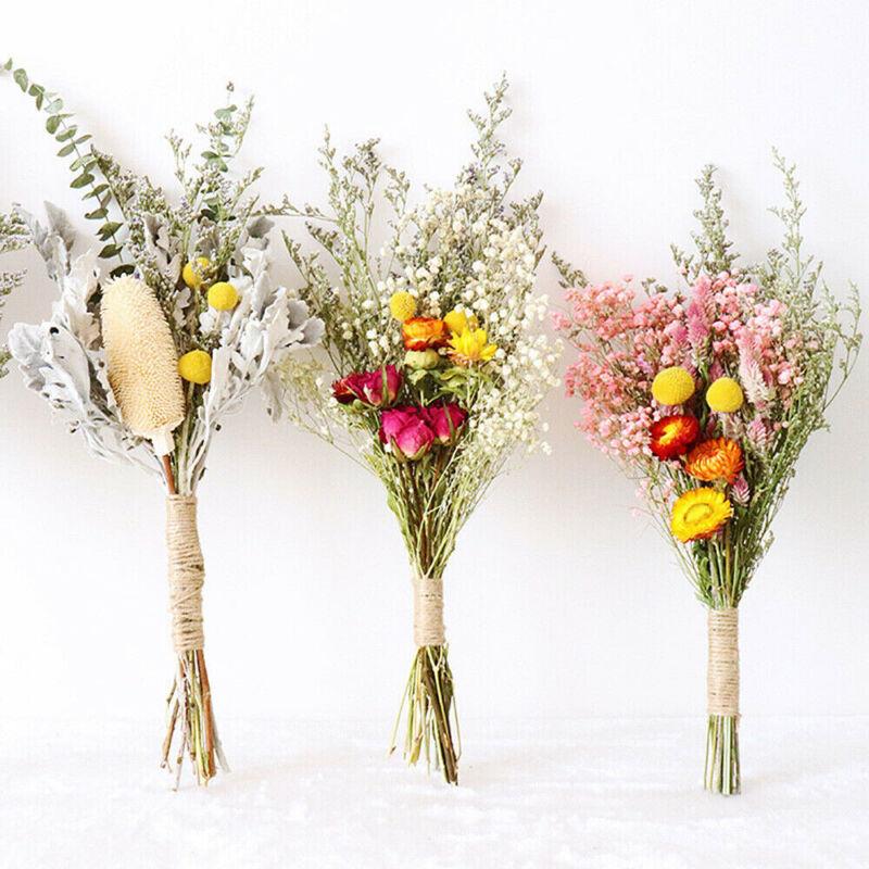 Home Decoration - Natural Dried Flower Gypsophila Bouquet DIY Wedding Party Floral Art Home Decor