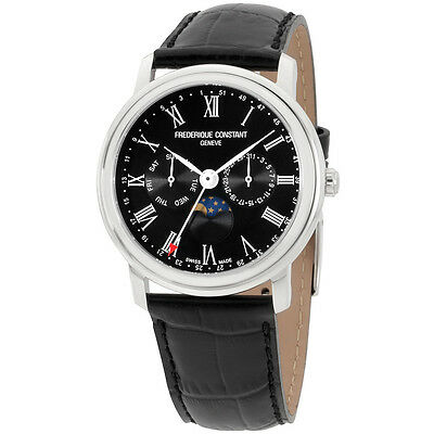 Frederique Constant Classics Black Dial Leather Strap Men's Watch FC-270BR4P6