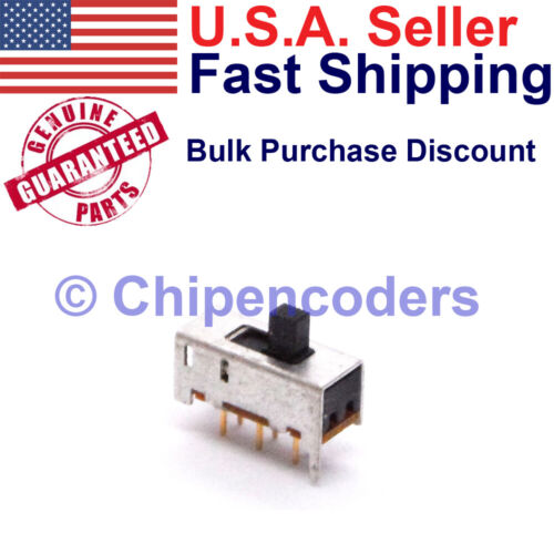 Alco MHS-222 DPDT Slide Switch PCB Mount TE 1825289-1   300mA 125 VAC