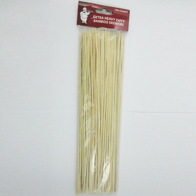 Party Skewers (100 Bamboo Skewers 12 Inch Wood Wooden Sticks BBQ Shish Kabob Fondue Party)