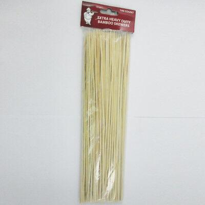 100 Bamboo Skewers 12 Inch Wood Wooden Sticks BBQ Shish Kabob Fondue Party (Bamboo Shish Kebab Skewers)