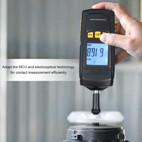 Digital LCD Contact Tachometer Rotate Speed Meter 0.5~19999 Range Speedometer US