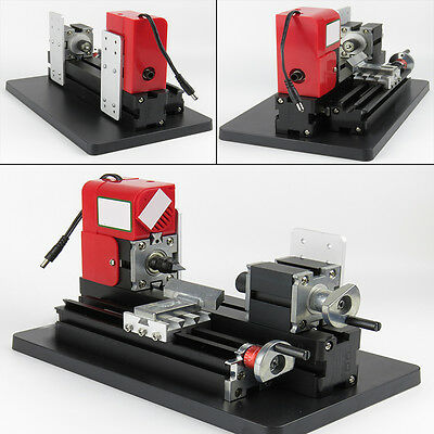 Usa Mini Wood Lathe Motorized Machine Diy Tool Metal Woodworking Engraving Model