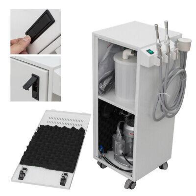 350w Portable Dental Suction Mobile Unit Vacuum Pump 300lmin Machine -12kpa