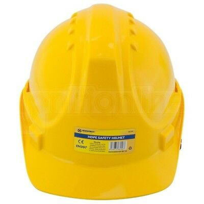 Yellow Safety Helmet Adjustable Construction Hard Hat Climbing Head Protector