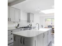 Christmas Offer ! Full Modern Kitchen - Gloss White & Quartz in UK