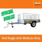 6x4 Medium Duty Galvanized Single Axle Trailer With Cage Dandenong Greater Dandenong Preview