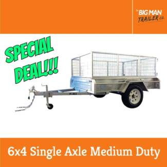 6x4 Medium Duty Galvanized Single Axle Trailer With Cage Dandenong Greater Dandenong Preview